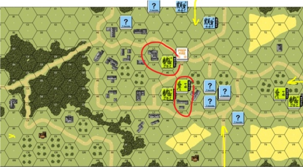 Turn 1 American Movement Phase