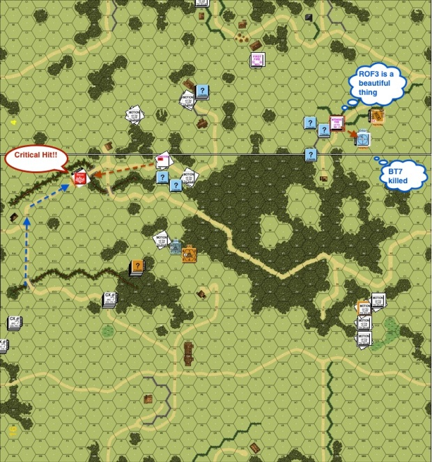 002 Turn 3 Russian Move HT37L blew up BT-7 rof-proc