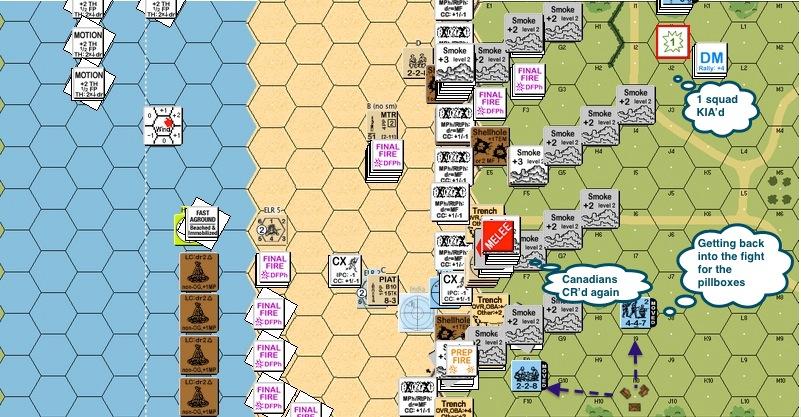 A079 - 05 Ger - MMG & crew broke and ran last turn .. Ger squad KIA-proc