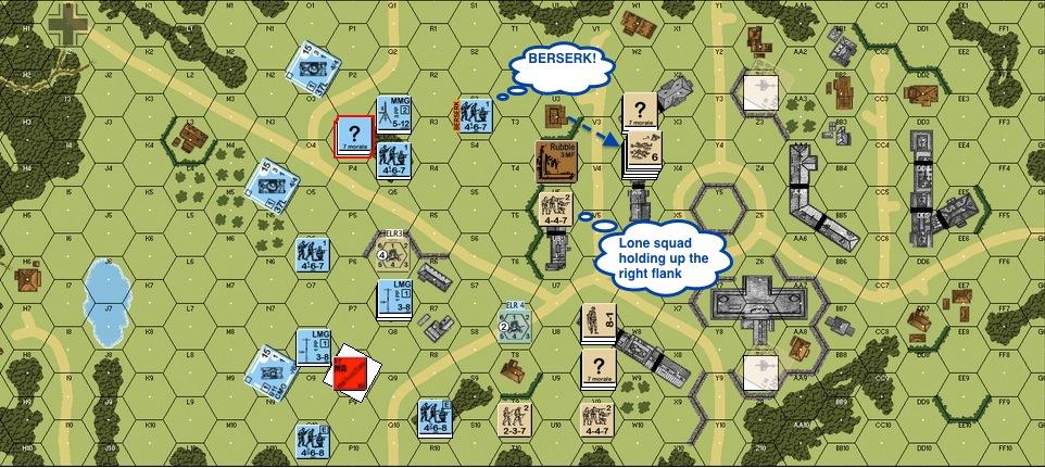 Turn 2 Ger 02 - EoT Berserk Germans Brit Right Wing collapse-proc