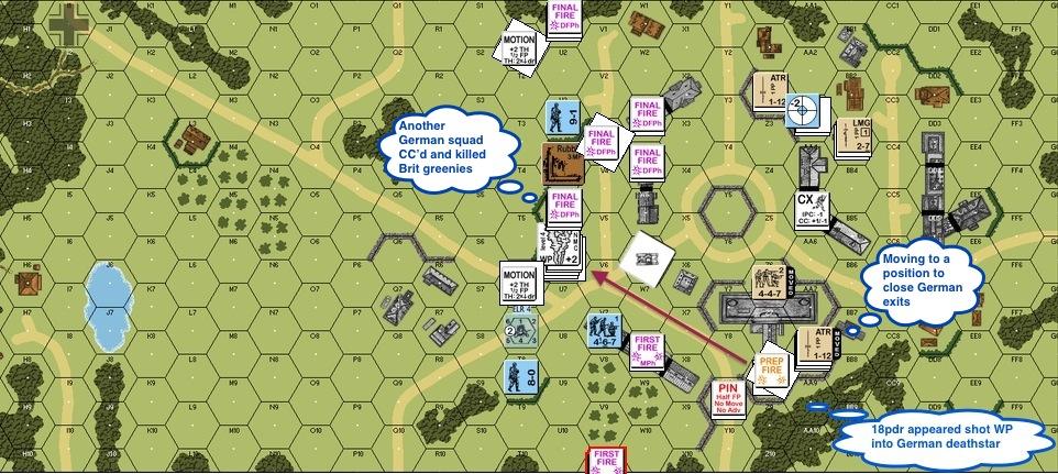 Turn 5 Bri 01 Gun appears WP ne.  fire & fun, concript died earlier-proc