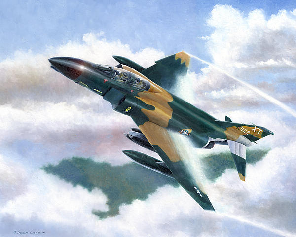 Mcdonnell F4C Phantom II is a painting by Douglas Castleman
