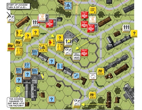 Advanced Squad Leader scenario 145 Shanghai in Flames (AAR)