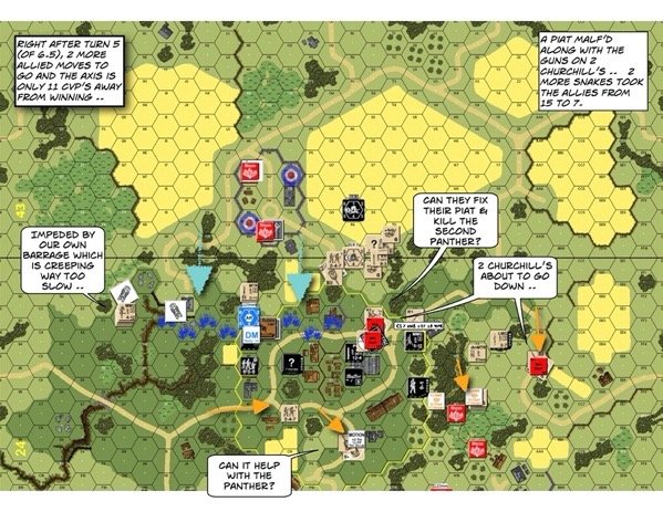 Advanced Squad Leader scenario AP137 Fear Naught (AAR)
