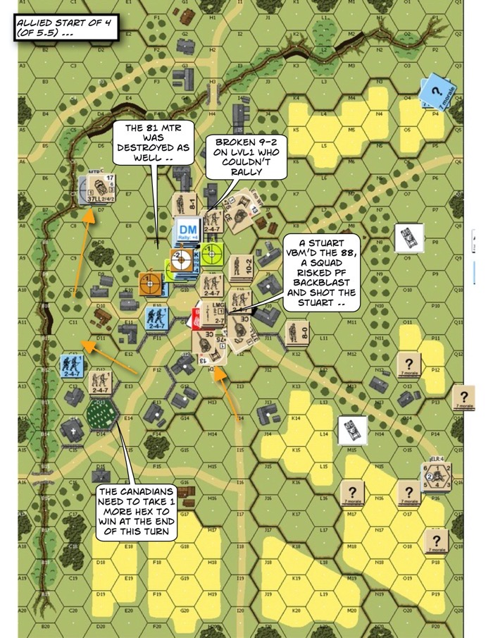 Advanced Squad Leader scenario AP141 Currie's Favor After Action Report 02