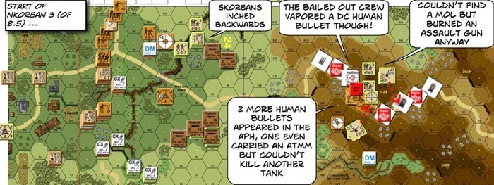 Advanced Squad Leader scenario 204 Human Bullets After Action Report (AAR) NK Turn 3