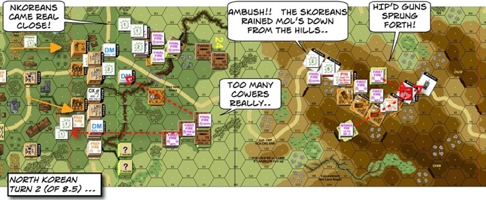 Advanced Squad Leader scenario 204 Human Bullets After Action Report (AAR) NK Turn 2