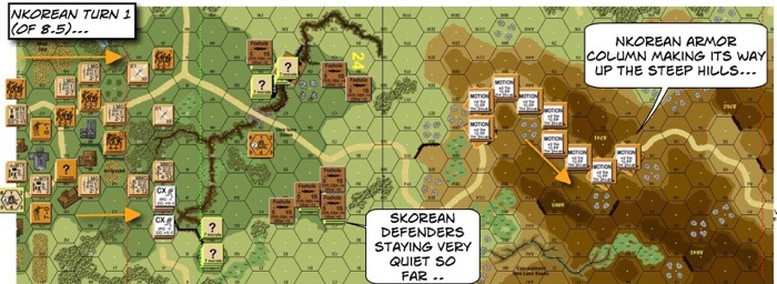 Advanced Squad Leader scenario 204 Human Bullets After Action Report (AAR) NK Turn 1