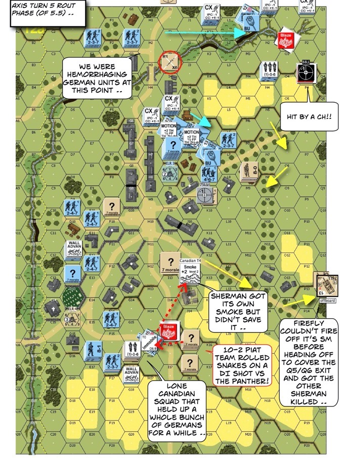 Advanced Squad Leader scenario AP142 The Closer After Action Report (AAR)