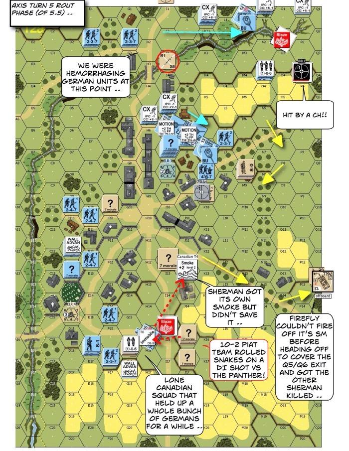 Advanced Squad Leader scenario AP142 The Closer After Action Report (AAR)