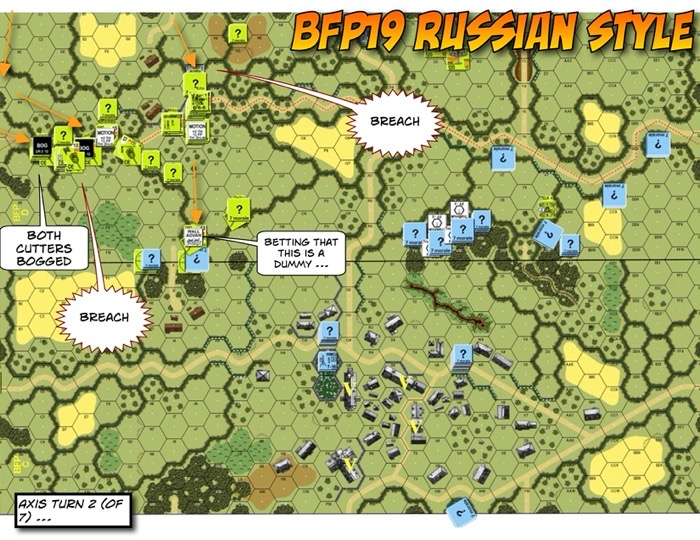 Advanced Squad Leader scenario BFP19 Russian Style After Action Report (AAR)