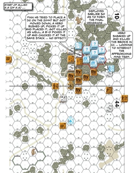 Advanced Squad Leader scenario FrF3 The Swedish Voluntary Corps After Action Report (AAR)