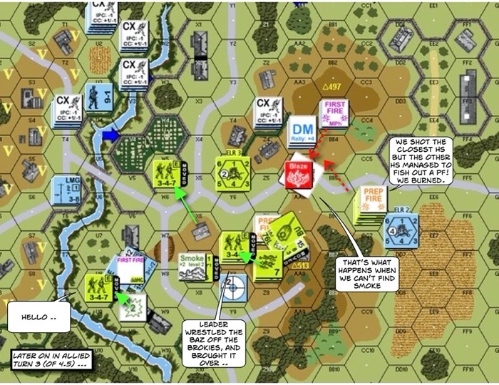 Advanced Squad Leader scenario SP247 Golden Arrow (AAR)