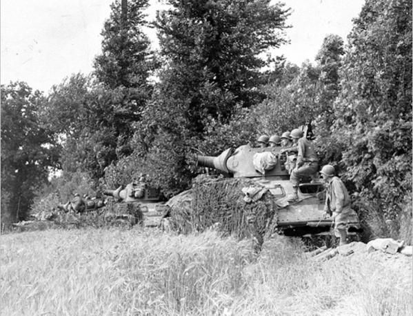 M8 HMC, 3rd Armored Division near Marigny, France (July 28 1944)