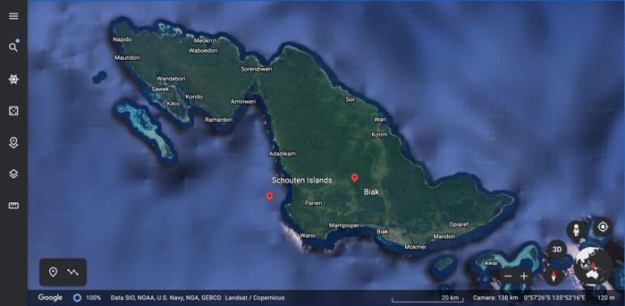 Google Earth: Biak