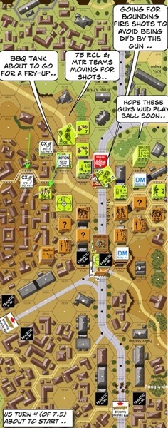 FT S4 Dilemma at Ma Po Boulevard After Action Report (AAR) Advanced Squad Leader scenario
